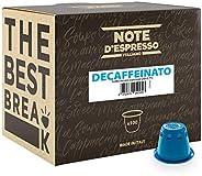 Note D'Espresso Cápsulas de Café Descafeinado exclusivamente compatibles con afeteras Nespresso* - 100 Uni