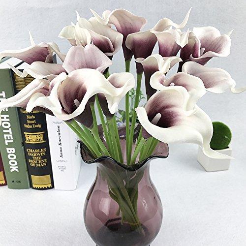 YEbao Hochzeit Blumenstrauß Pu Mini Form Simulation Hand Hand Inneneinrichtungsgegenstände Dekorative Ornamente Künstliche Blumen 15 Filialen Von Weißen Purple Heart (Purple Heart Patch)