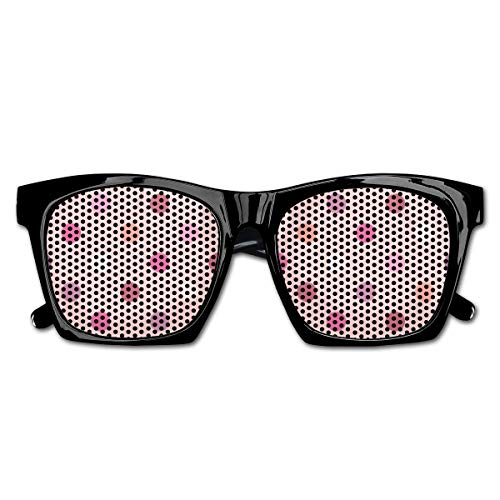 EELKKO Mesh Sunglasses Sports Polarized, Retro Pattern with Different Colored Polka Dots Country Style for Baby Girls,Fun Props Party Favors Gift Unisex