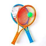 Xiton Tennis Badminton Schläger Spielzeug Tennisschläger und Ball Set Kinder Spielen Spiel Spielzeug (zufällige Farbe) 1 Satz