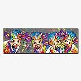 Karen Max Modular Giclée 1 Stück Landschaften und Bunten Vier Kühe Tiere Graffiti Öl Leinwand Prints für Art Wand Bild für Home Decor Wohnzimmer Size1:12x36inch Kein Rahmen, keine Leinwand