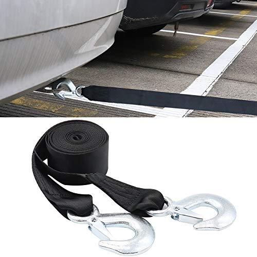 YSHtanj Auto Abschleppseil Auto Innenteile Abschleppseil 4 m 4T strapazierfähig hohe Festigkeit Anhänger Auto Abschleppseil Zugseil Gurt mit Haken