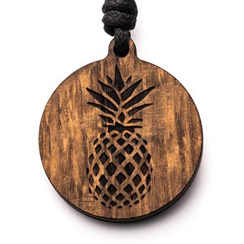 treeforce Ananas Halskette, Schlüsselanhänger oder Auto- Anhänger 3in1 DIY Schmuck aus Kupfereiche