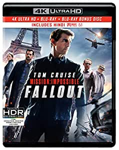 Mission: Impossible 6 - Fallout (4K UHD + HD + Bonus Disc) (3-Disc)