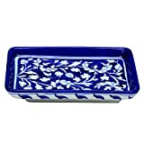 #9: The Himalaya Craft Blue Pottery ceramic Decorative Tray
