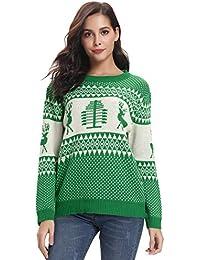 Abollria Colección de Navidad-Suéteres Navideños Sudadera y Jersey de  Navidad Chaqueta de d3c182e9fe72