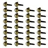 P Prettyia 30 Stück Metallnieten Bügelnieten Lederhandwerk - Bronze