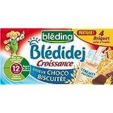 Blédina Blédidej Choco-Biscuité Croissance dès 12 Mois 4x250ml - lot de 3