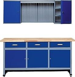 Küpper 70421-7 Werkstattmöbel-Set 170cm, in Deutschland hergestellt, Farbe: ultramarin