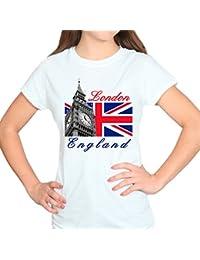 London England Big Ben Tower White Womens T-Shirt