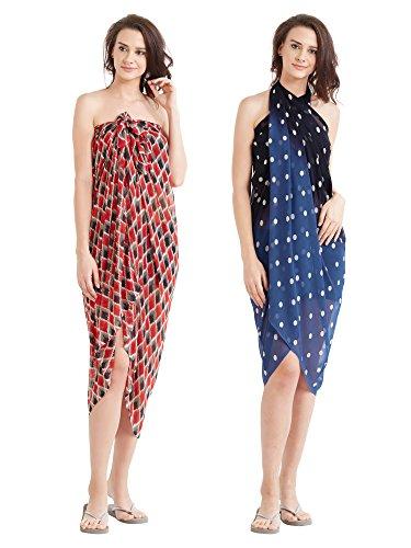 Mirchi Fashion - Copricostume -  donna Rot, Schwarz und Blau