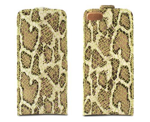 TammyB Reptilia–Leder Flip Case für Apple iPhone 5 grün