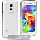 Yousave Accessories Hard Cover for Samsung Galaxy S5 Mini - Crystal Clear