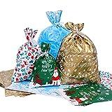 BESTOYARD Christmas Gift Drawstring Bags Christmas Supplies Goody Bags for the Party Favor Handmade Food Treat Bags 30PCS