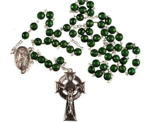 Green Shamrock Saint Patrick Rosary. Irish Rosary Beads.St Patrick. From St Joseph's Catholic Giftshop on Amazon