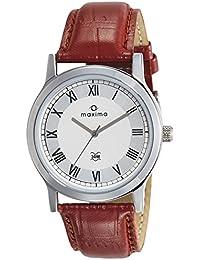 Maxima Analog White Dial Men's Watch-44686LMGI