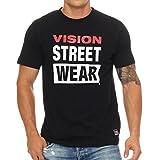 Vision Street Wear - Herren T-Shirt - Rundhals - Schwarz - L