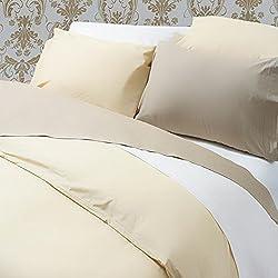 Percal de algodón egipcio 30,48 cm Sábana ajustable color: blanco, tamaño: para cama de matrimonio, hilos: 200