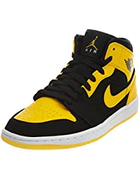 Nike Men s Air Jordan 1 Mid Sneakers Black White b45a638f7