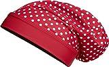 Playshoes Mädchen Mütze Beanie Punkte mit UV-Schutz, (Rot 8), Medium (Herstellergröße: 53cm)