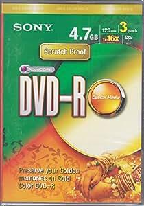 Sony DVD-R 4.7GB 120Min 1x 16x (3 Pack)