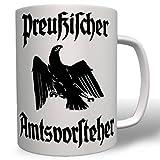 Preußen Adler Beamter Preußischer Amtsvorsteher Fahne Flagge Deutschland - Tasse Kaffee Becher #16760