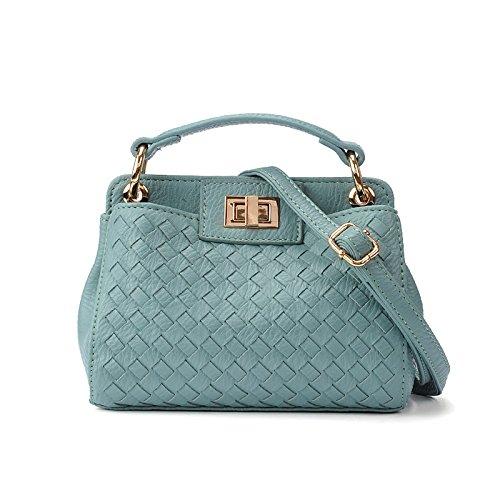 meine damen - handtasche mini - schrägen weben tasche Hellblau