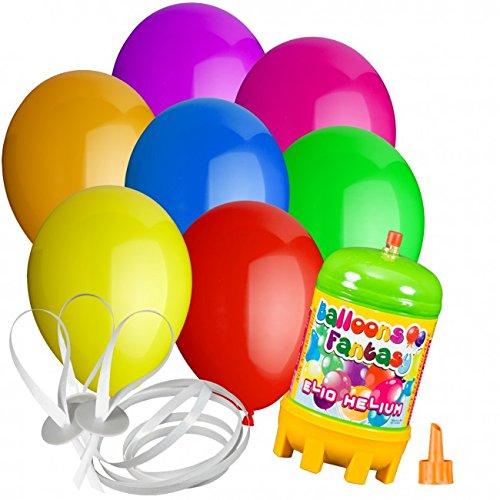 Preisvergleich Produktbild 15 Luftballons Ø 25 cm Farbe frei wählbar mit Helium Ballon Gas Hochzeit Geburtstag Komplettset (Gemischt)
