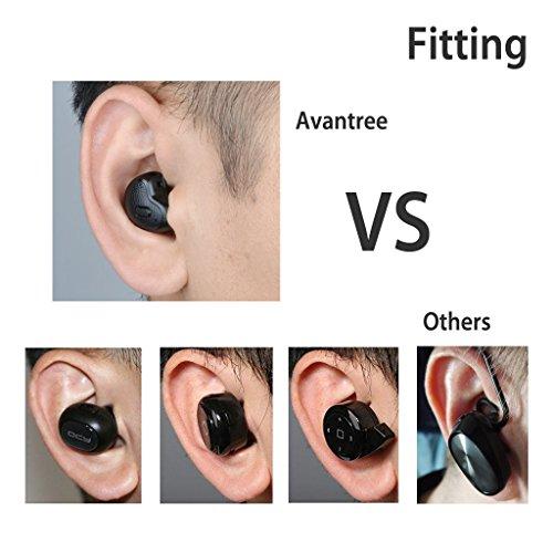 [2018 Version] Avantree Mini In Ear Bluetooth Kopfhörer für Motorradhelm GPS Navi, Podcasts, Audiobooks, Kabellos Unsichtbarer Kleiner Ohrhörer Ohrstöpsel, Wireless Kleinste Motorrad Headset (Nur rechtes Ohr) - 2