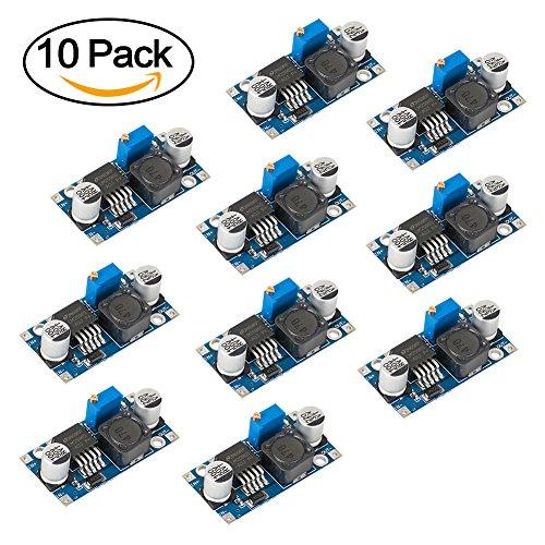 BAKTOONS Netzteil-Abwärtsmodul, LM2596 DC zu DC einstellbarer Buck Converter 3.0-40V zu 1.5-35V High Efficiency Spannungsregler-Modul (10pack)