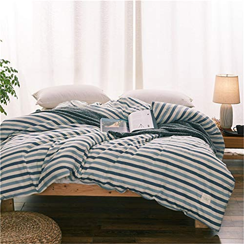 JWANS Bettwäsche 1 Stück Reactive Printed Bettbezug mit Reißverschluss Baumwolle Tagesdecke weiche Decke Fall