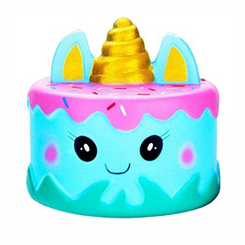Vovotrade Squishy eenhoorn Kawaii Cartoon Kuchen squishis Pack jongens meisjes squishies langzaam opstaan geurend speelgoed voor kinderen (Blau)