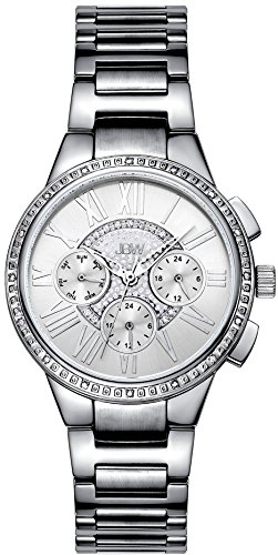 JBW WOMEN'S HELENA DIAMOND 38MM STEEL BRACELET & CASE QUARTZ WATCH J6328A