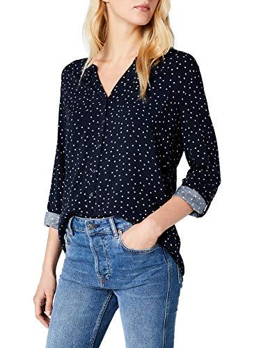 ONLY Damen Bluse onlFIRST LS Pocket AOP Shirt NOOS WVN Mehrfarbig (Night Sky Small Cloud Dancer Stars) 36