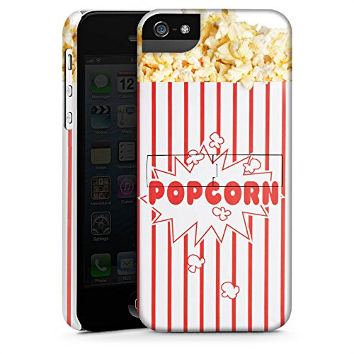 Apple iPhone 5c Silikon Hülle Case Schutzhülle Popcorn Kino Design Premium Case StandUp