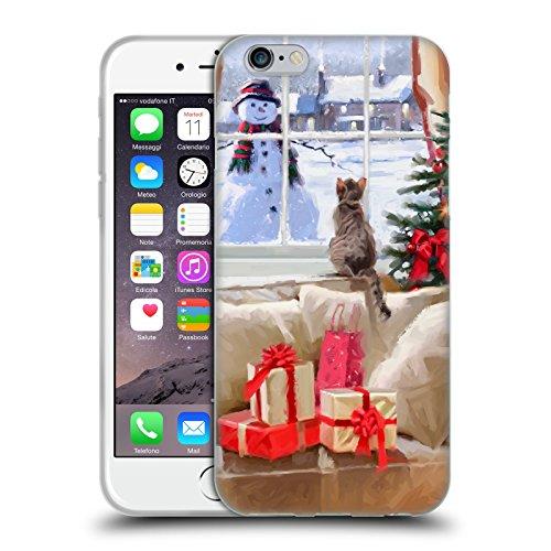 Ufficiale The Macneil Studio Cucciolo E Palla Animali Di Natale Cover Morbida In Gel Per Apple iPhone 6 Plus / 6s Plus Gatto Finestra