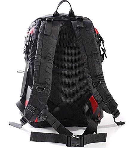 zaino trekking 40L sacchetti di alpinismo di viaggio per il tempo libero borsa sacchetto di campeggio uomini e donne paio Zaini da escursionismo ( Colore : Blu , dimensioni : 36-55L ) Rosso