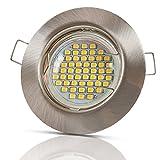6x Lu-Mi® Einbaustrahler GU10 LED 3W SMD Warmweiß 230V