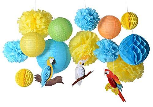 SUNBEAUTY Sommer Party Dekoration Papier MACAW Dekor Sommerfest
