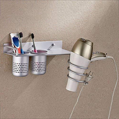 Wandhalterung Halterung für Haartrockner Badezimmer Organizer Collection Rack, aluminium Zahnbürste Aufbewahrung Tassen, Spirale Stil mit Plug Hook -