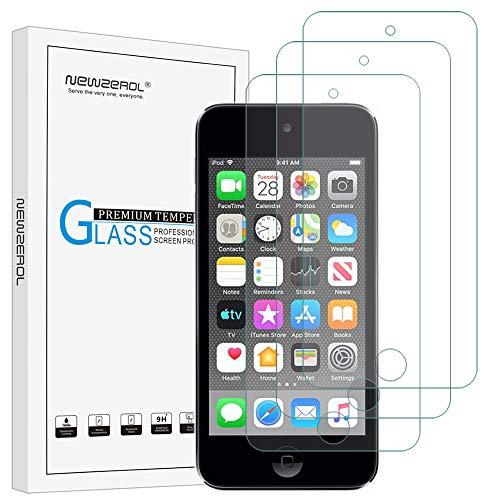 NEWZEROL Panzerglas Schutzfolie Ersatz für Apple New iPod Touch (7th Gen 2019 Released / 6th & 5th Generation), [3 Stück] 2.5D Anti Scratch 9H Displayschutz blasenfreier Displayschutzfolie - CLAR -