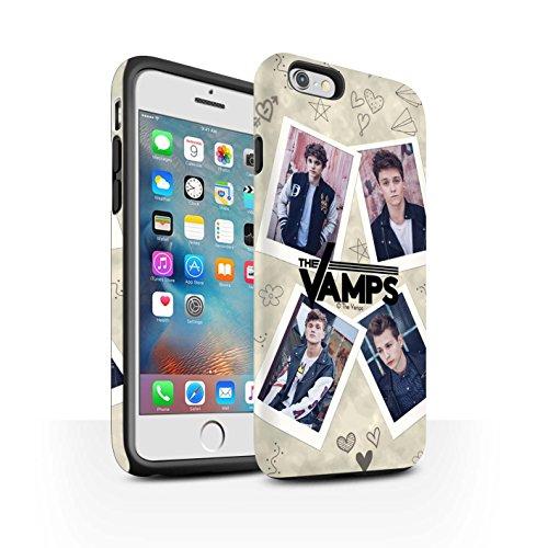 Officiel The Vamps Coque / Matte Robuste Antichoc Etui pour Apple iPhone 6+/Plus 5.5 / Pack 5Pcs Design / The Vamps Livre Doodle Collection Portefeuille