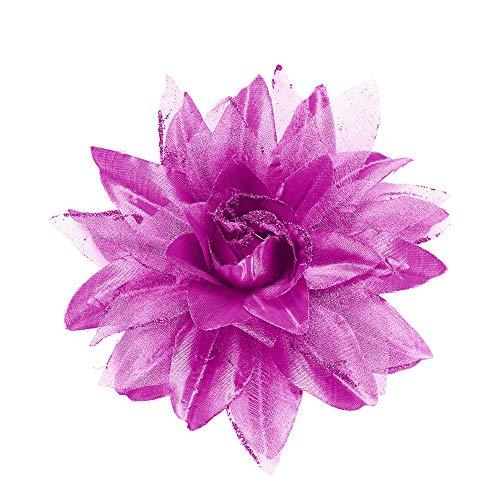 WIDMANN?Pasador Pelo Flor con purpurina Womens, lila, talla única, vd-wdm04129