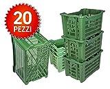 ICS Plastica 20 Cassette agricole impilabili aperte per olive