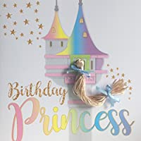Princess Rapunzel Birthday Card for Girl, Hand Finished with a