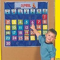 Nylon Classroom Calendar Pocket
