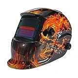 KUNSE Elektrische Schweißen Helm Solarenergie Automatische Verdunkelung Skull Maske