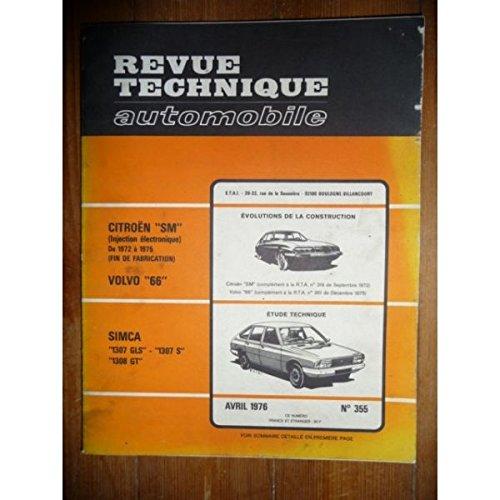 RTA0355 - REVUE TECHNIQUE AUTOMOBILE SIMCA 1307 GLS - 1307 S - 1308 GT