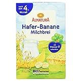 Alnatura Bio Hafer-Banane-Milchbrei, 6er Pack (6 x 250 g)