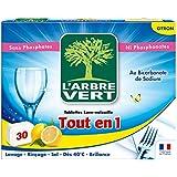 L'arbre vert Tout en 1 Pastilles Lave-vaisselle Citron 30 Tablettes